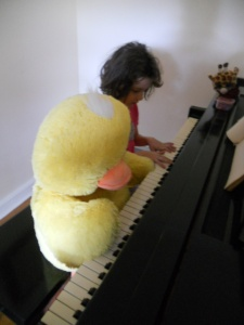 Big Duck Playing the Piano